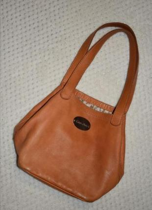 Кожаная мягкая сумка color d'asia