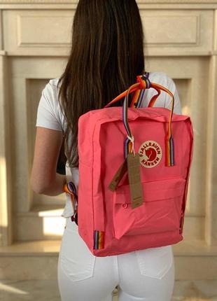 Рюкзак fjallraven kanken rainbow pink купить фьялравен канкен розовый