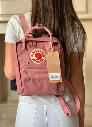 Рюкзак fjallraven kanken mini 7л l pink купить фьялравен канкен мини розовый
