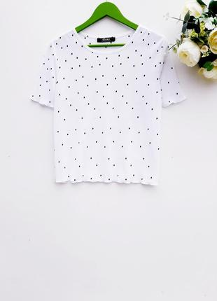 Нежная блуза плиссе нарядная блузка в горох