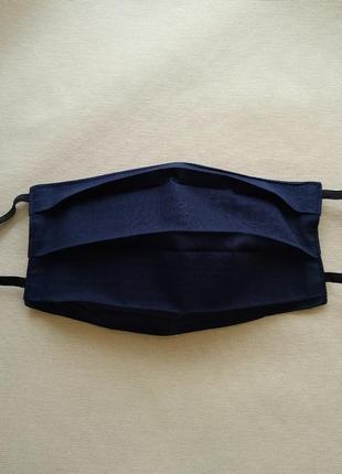 Синяя женская маска, защитные маски с ткани