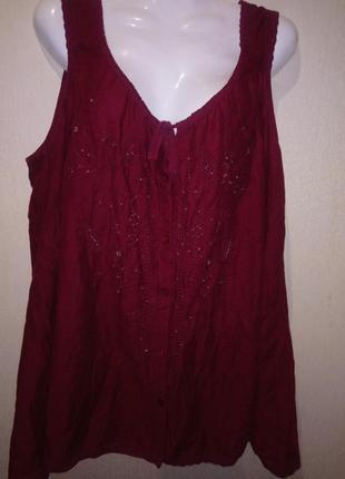Блуза натуральная ткань .трапецией .можно беременным .