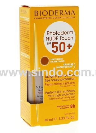Тональное солнцезащитное матирующее средство спф bioderma photoderm nude touch spf 50+40ml