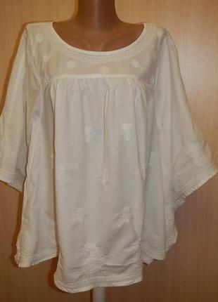 Блуза свободного кроя с вышивкой tu р.14