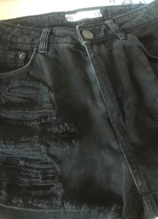 Шорты джинсовые чёрный цвет