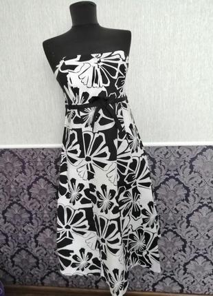 Красивое платье без плеч ,новое ,размер 36-38