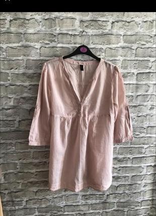 Легкая блуза туника футболка с длинным рукавом