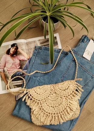 Сумка плетеная летняя