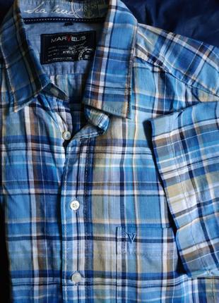 Рубашка хлопковая на короткий рукав