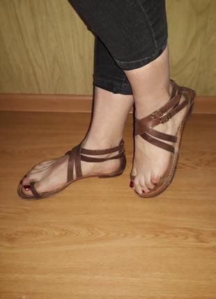 Стильные сандалии/100%натуральная кожа/mellow yellow/франция