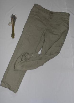 Женские льняные брюки большого размера 66-68 c&a германия