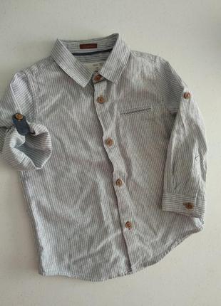 Рубашечка рубашка zara 18-24 h&m