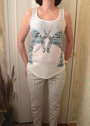 New look  стильная майка  летняя футболка  белая майка бесплатная доставка