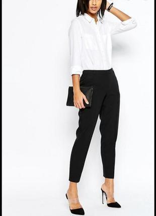Женские классические брюки # лёгкие штаны # брюки зауженные к низу # f&f
