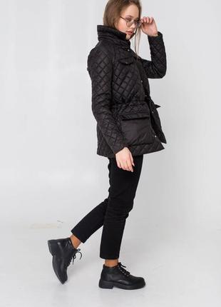 Черная демисезонная осенняя куртка - рубашка от производителя