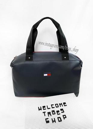 Новая шикарная качественная сумка pu кожа транформер tommy  / дорожная / городская / шопер