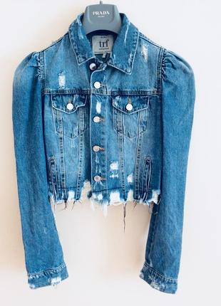 Бомбезная  джинсовая куртка  деним