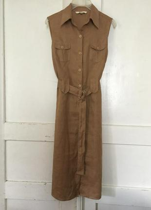 Льняное платье лен