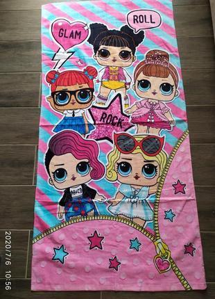 Детское пляжное полотенце.