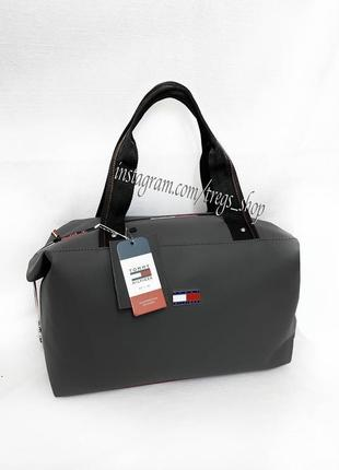 Новая шикарная качественная сумка pu кожа транформер tommy / дорожная / шопер / спортивная