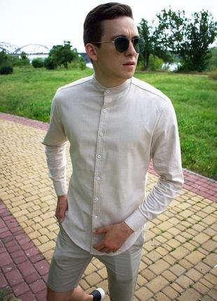 Легкая летняя светлая рубашка