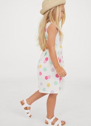 Легкое трикотажное платье для девочки h&m