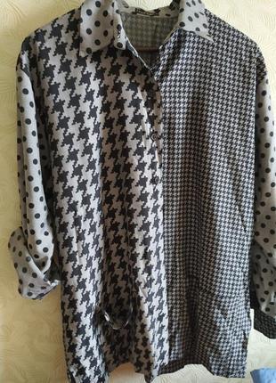 Интересная комбинированная рубашка