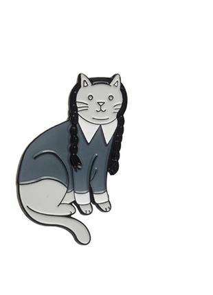 Большой выбор! стильный пин кот адамс котик неко коте брошь значок брошка