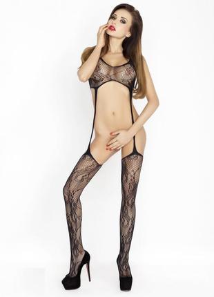 Эротический сексуальный комбинезон боди сетка бодистокинг арт. 573