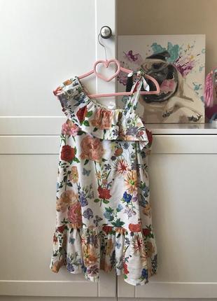 Платье  летнее hm 116-130