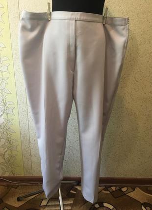 Чудесные батальные классические светлые брюки/штаны большого размера