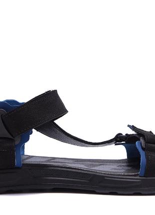 Мужские кожаные сандалии nike track black n-5 ч\син санд