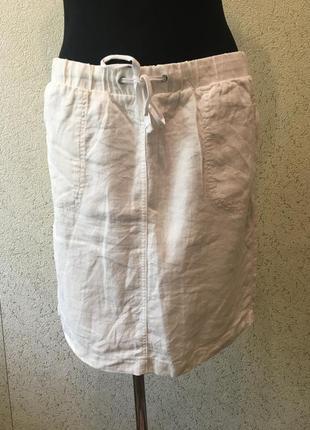 Белоснежная брендовая женская юбка/юбочка