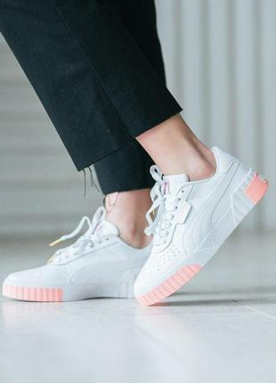 Puma cali white pink