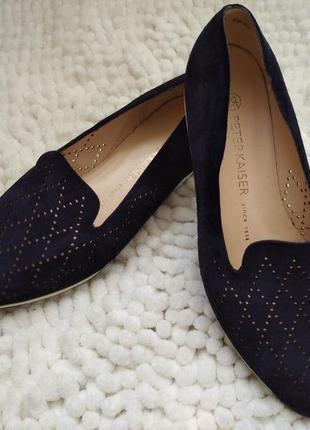 Мега стильные замшевые туфли,балетки, мокасины peter kaiser германия