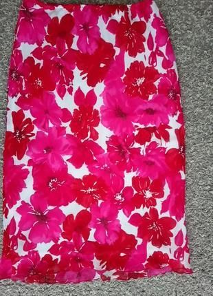 Актуальная юбка цветочный принт