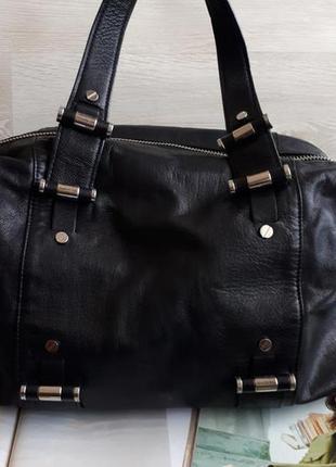 Черная кожаная сумка michael kors оригинал