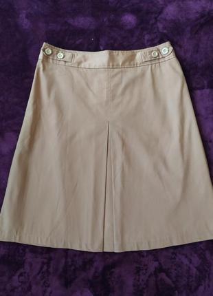Натуральная юбка цвета кемел atmosphere.