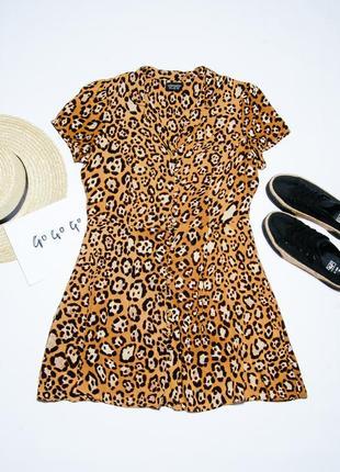 Летнее платье леопардовое