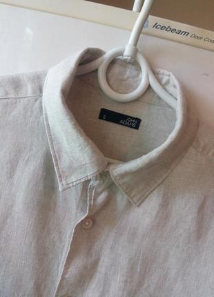 Классная мужская рубашка от «john adams», 100 % чистый лен