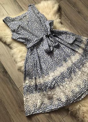 Красивейшее хлопковое платье 👗 с круживом от украинского производителя petro soroka