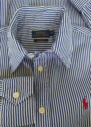 Рубашка с длинным рукавом фирменна polo ralph lauren
