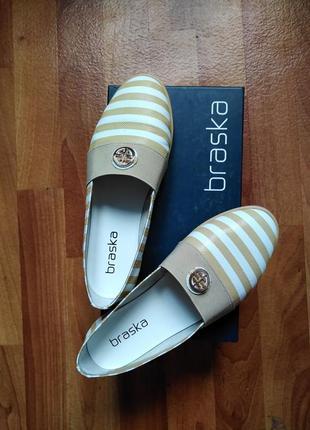Мокасины туфли из натуральной кожи 35-36