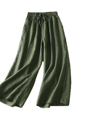 Классные практичные брюки из льна