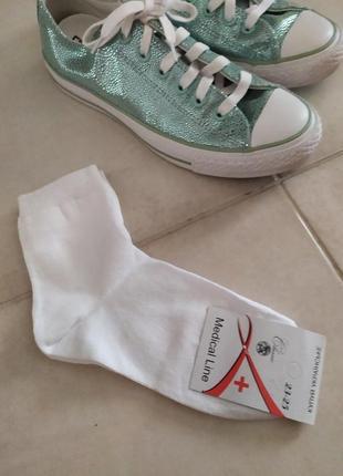 Новые носочки белые носки котон под кеды и кроссовки
