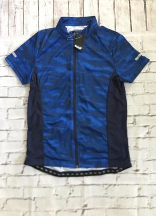 Синяя вело футболка crivit