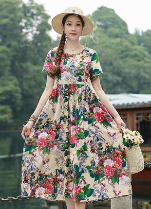 Платье лен!!! и множество других платьев и кюлоты из льна!!!