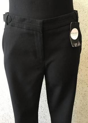 Стильные чёрные классические брюки/новые женские штаны/лёгкие штанишки