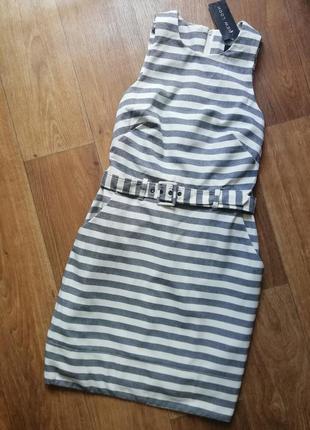 🔥распродажа! полосатый сарафан с поясом, плаття, платье, сукня, полосатая