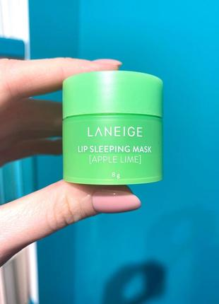 Ночная маска для губ с ароматом яблока и лайма laneige lip sleeping mask apple lime